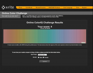 color test score